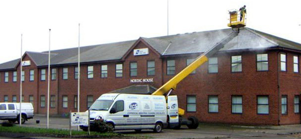 Total clean solutions providing exterior cleaning services including bicarbonate soda blasting for Commercial exterior cleaning services